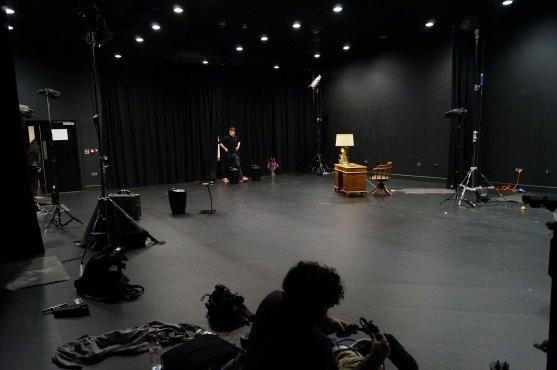 The studio and lights